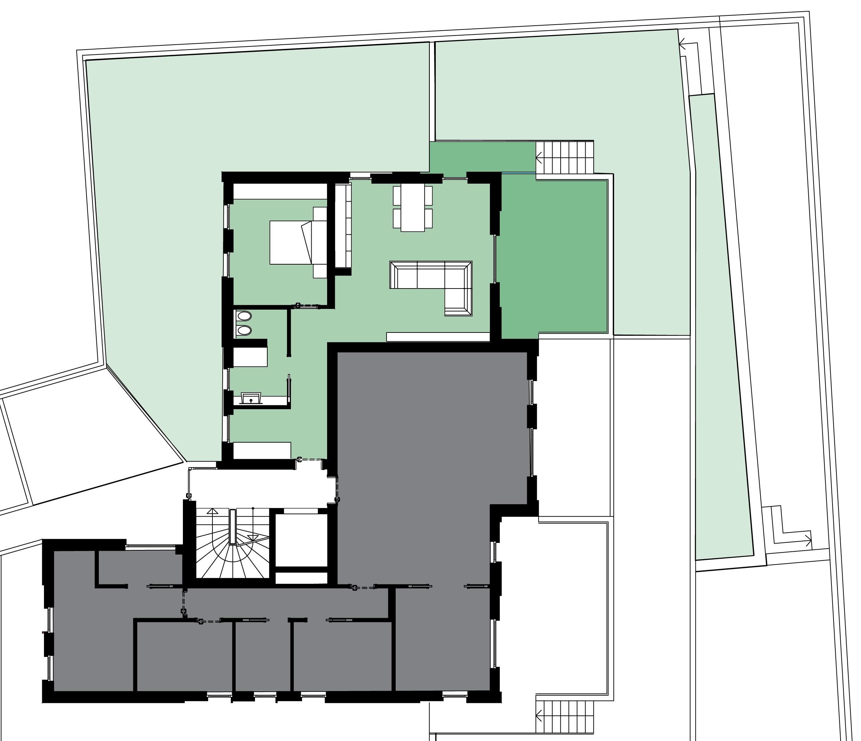 Camera Matrimoniale 12 Mq.Piano Terra Residenza Belvedere
